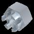 DIN 935, Kronenmutter mit Regelgewinde, Stahl 8 verzinkt, M10