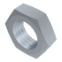 DIN 936, Sechskantmutter mit Regelgewinde, flach, Stahl 04 Verzinkt, M10