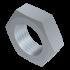 DIN 936, Sechskantmutter mit Feingewinde, flach, Stahl 04 verzinkt, M10x1