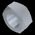 DIN 934, Sechskantmutter mit metr. Feingewinde, Stahl 8 verzinkt, M10x1