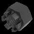 DIN 935, Kronenmutter mit Feingewinde, Stahl 6 AU, M10x1