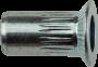 Blindnietmutter Senkkopf Rundschaft gerändelt, Aluminium, M5x13.5