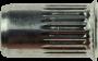 Blindnietmutter kleiner Senkkopf Rundschaft gerändelt, Stahl verzinkt, M4x15