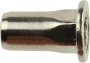 Blindnietmutter Flachkopf Teilsechskantschaft, Aluminium, M3x9