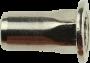 Blindnietmutter Flachkopf Sechskantschaft, Stahl verzinkt, M4x11.2