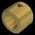 Ensat Gewindeeinsatz (Werksnorm 307), Stahl einsatzgehärtet verzinkt gelb chromatisiert, M4